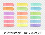 vector colorful bright sticky... | Shutterstock .eps vector #1017902593