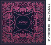 baroque style vintage... | Shutterstock .eps vector #1017903313