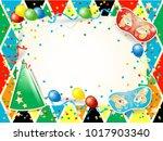 carnival illustration with...   Shutterstock .eps vector #1017903340