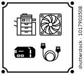 technology set icon vector | Shutterstock .eps vector #1017903508