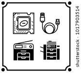 technology set icon vector | Shutterstock .eps vector #1017903514