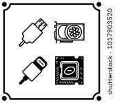 technology set icon vector | Shutterstock .eps vector #1017903520