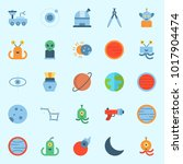icons about universe with orbit ... | Shutterstock .eps vector #1017904474