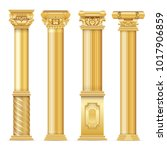 classic antique gold columns... | Shutterstock .eps vector #1017906859