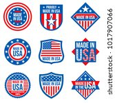 made in the usa vector labels.... | Shutterstock .eps vector #1017907066