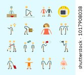 icons about human with... | Shutterstock .eps vector #1017908038