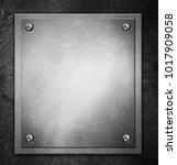 steel metal plate on concrete...   Shutterstock . vector #1017909058