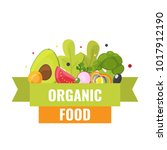 organic food banner with... | Shutterstock .eps vector #1017912190