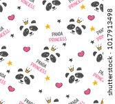 seamless pattern hand drawn... | Shutterstock .eps vector #1017913498