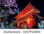 the senso ji temple in asakusa...   Shutterstock . vector #1017913843