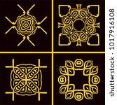 vintage logos templates set....   Shutterstock .eps vector #1017916108