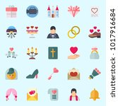 icons about wedding with...   Shutterstock .eps vector #1017916684