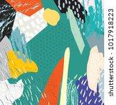 creative doodle art header with ... | Shutterstock .eps vector #1017918223