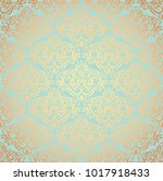 vintage damask wallpaper.... | Shutterstock .eps vector #1017918433