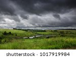 cloudy summer landscape with...   Shutterstock . vector #1017919984