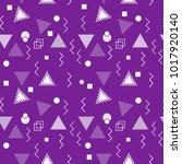 seamless trendy hipster modern...   Shutterstock .eps vector #1017920140
