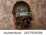 image from back of brunette...   Shutterstock . vector #1017924538