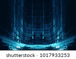 abstract digital science... | Shutterstock . vector #1017933253
