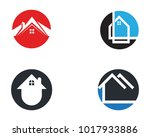 home logo and symbols icon | Shutterstock .eps vector #1017933886