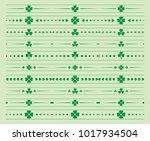 green floral dividers   vector... | Shutterstock .eps vector #1017934504