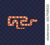 snake pixel art isolated vector ... | Shutterstock .eps vector #1017938533