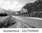 cycle track along rhine river... | Shutterstock . vector #1017939640
