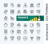 Money, finance, payments elements - minimal thin line web icon set. Outline icons collection. Simple vector illustration. | Shutterstock vector #1017939844
