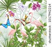 seamless pattern  background... | Shutterstock .eps vector #1017942214
