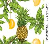 seamless pattern  background... | Shutterstock .eps vector #1017942244
