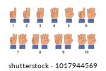 counting hand. countdown... | Shutterstock .eps vector #1017944569