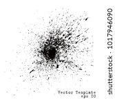 abstract ink grunge splash... | Shutterstock .eps vector #1017946090