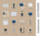 icons connectors cables with... | Shutterstock .eps vector #1017946900