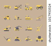 icons construction machinery... | Shutterstock .eps vector #1017953524