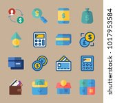 icons currency with growth ... | Shutterstock .eps vector #1017953584