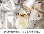 white coffee cup with white... | Shutterstock . vector #1017954469