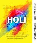 holi creative flyer  banner... | Shutterstock .eps vector #1017955210