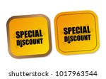 special discount stickers | Shutterstock .eps vector #1017963544
