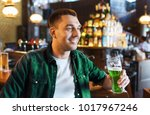 people  leisure and st patricks ... | Shutterstock . vector #1017967246