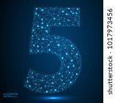 abstract number five  figure 5  ...   Shutterstock .eps vector #1017973456