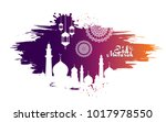 eid mubarak abstract vector... | Shutterstock .eps vector #1017978550