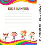 children banner template | Shutterstock .eps vector #1017980224