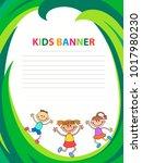 children banner template | Shutterstock .eps vector #1017980230