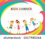 children banner template | Shutterstock .eps vector #1017980266