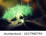 carnival mask background | Shutterstock . vector #1017980794