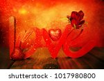 flowers with word love | Shutterstock . vector #1017980800