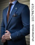 detail of man in suit with... | Shutterstock . vector #1017987319