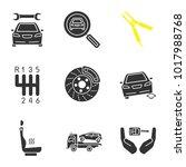 Auto Workshop Glyph Icons Set....