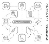 auto workshop mind map with... | Shutterstock .eps vector #1017988780