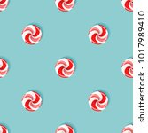 seamless pattern with sugarplum ... | Shutterstock .eps vector #1017989410