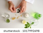 the scientist or doctor make... | Shutterstock . vector #1017992698